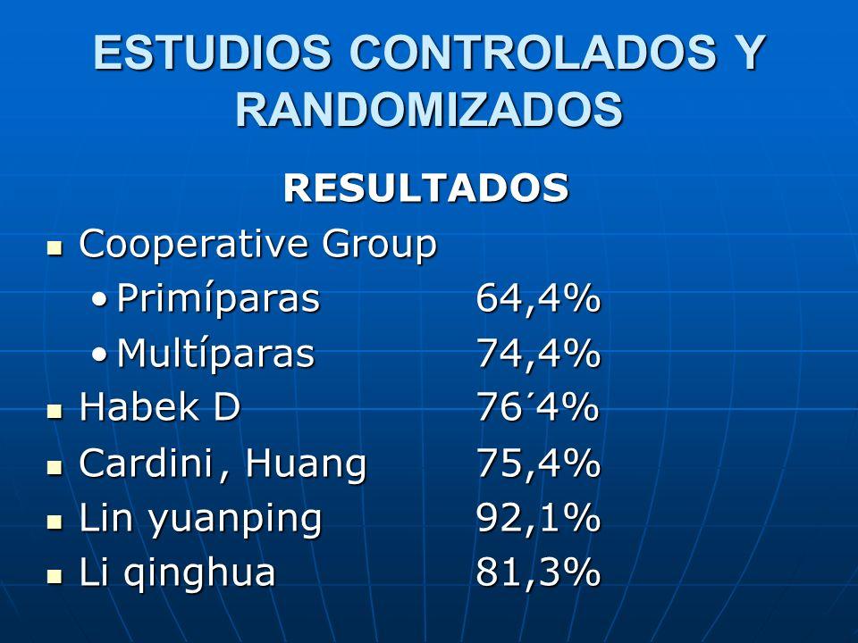 ESTUDIOS CONTROLADOS Y RANDOMIZADOS