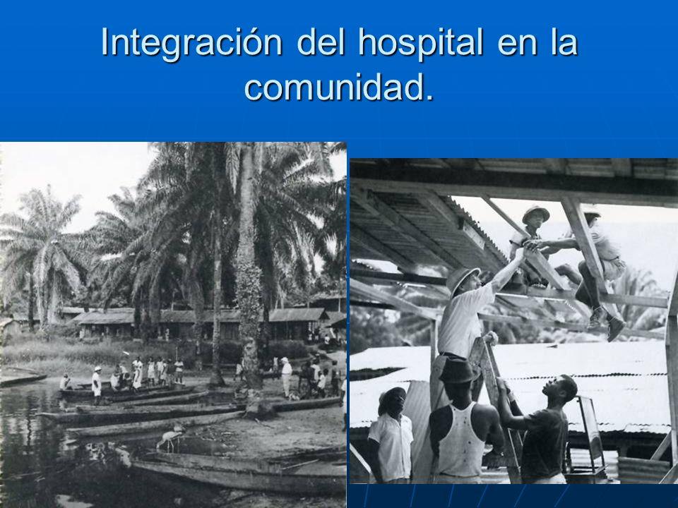 Integración del hospital en la comunidad.