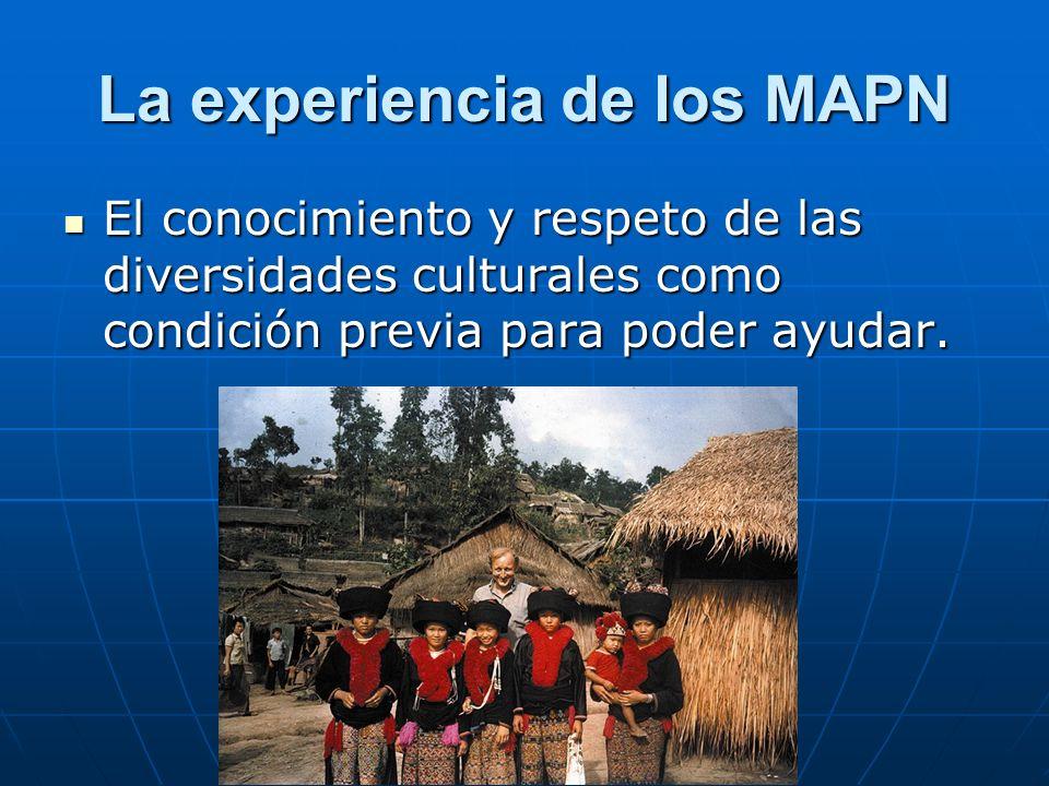 La experiencia de los MAPN