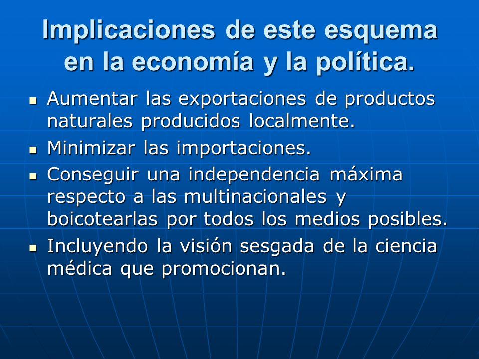 Implicaciones de este esquema en la economía y la política.