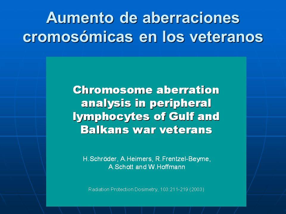 Aumento de aberraciones cromosómicas en los veteranos
