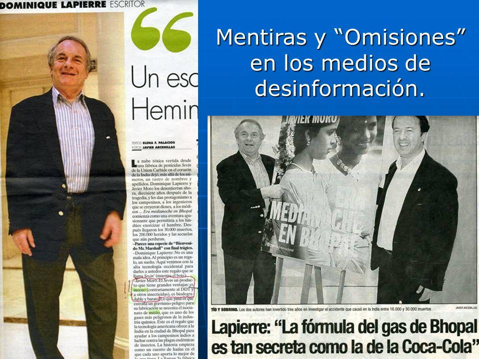 Mentiras y Omisiones en los medios de desinformación.