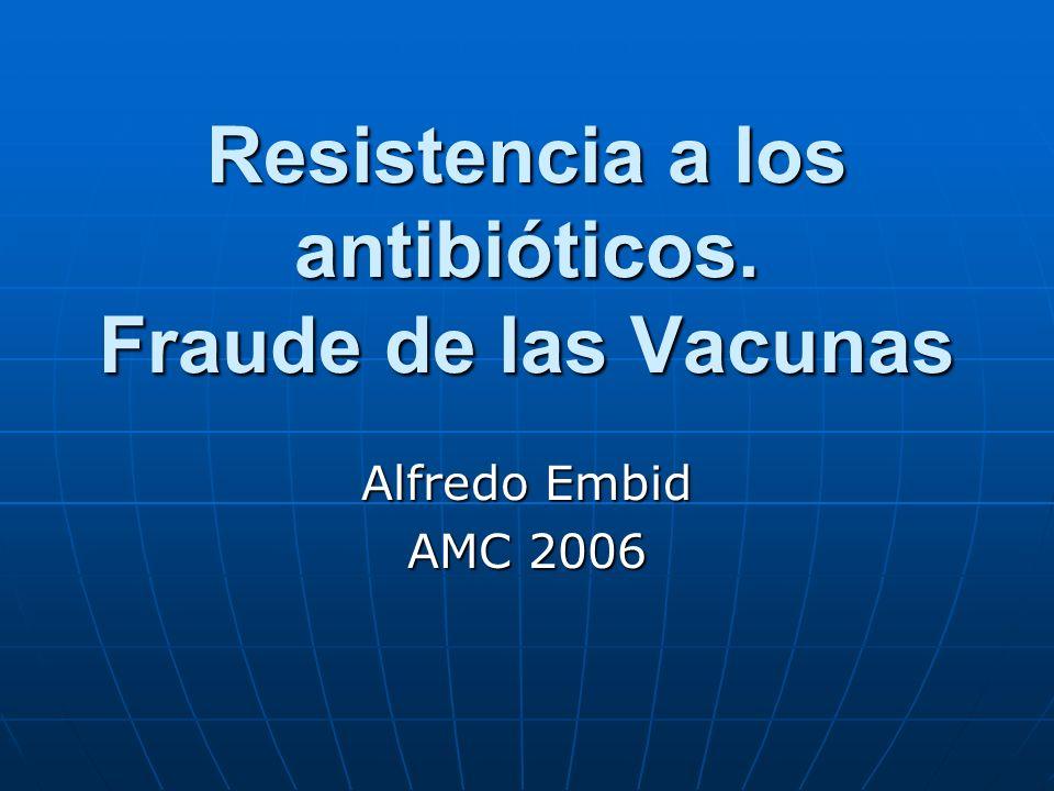 Resistencia a los antibióticos. Fraude de las Vacunas