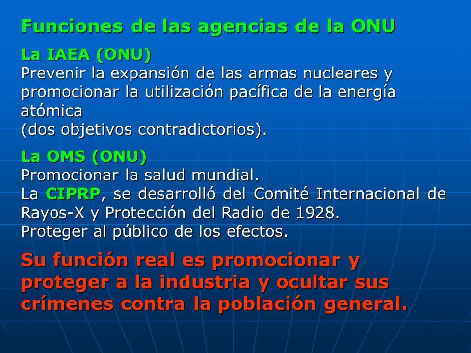 Funciones de las agencias de la ONU
