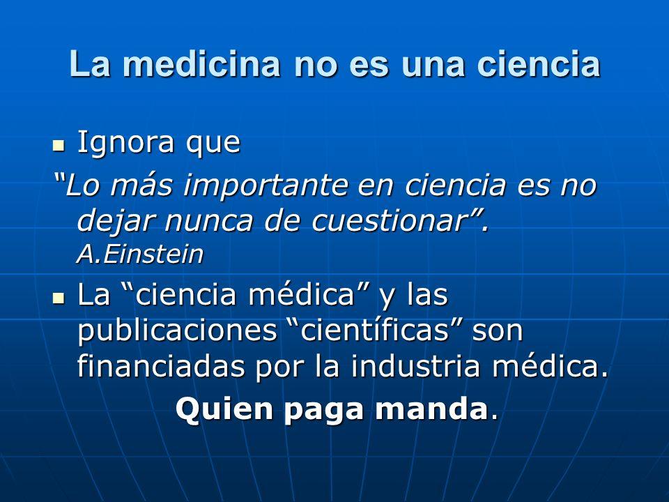 La medicina no es una ciencia