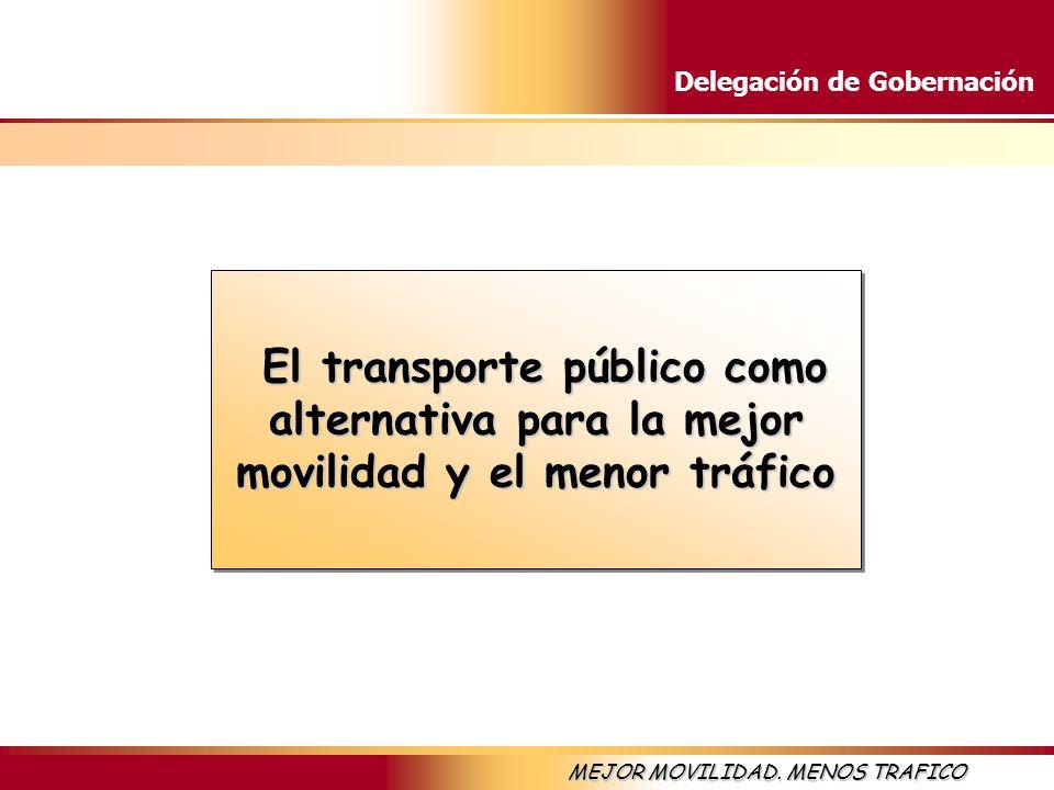 El transporte público como alternativa para la mejor movilidad y el menor tráfico
