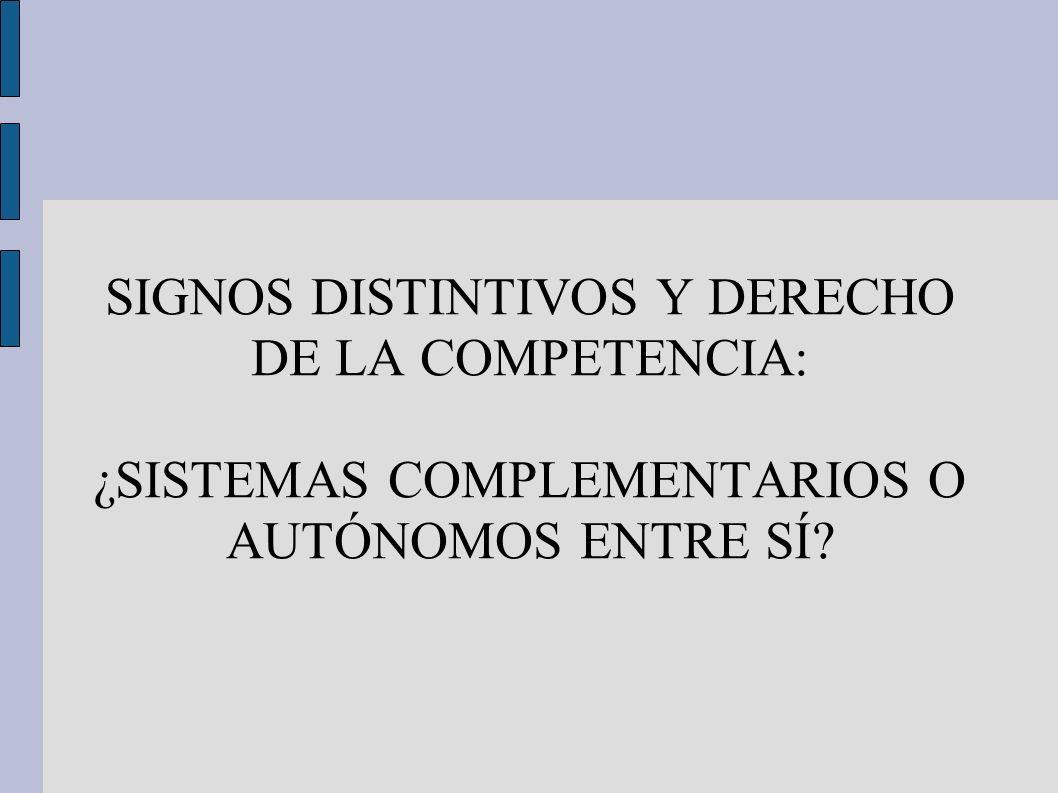 SIGNOS DISTINTIVOS Y DERECHO DE LA COMPETENCIA: