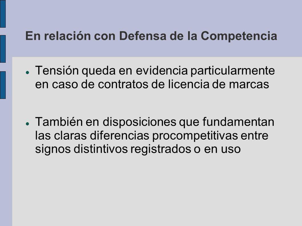 En relación con Defensa de la Competencia