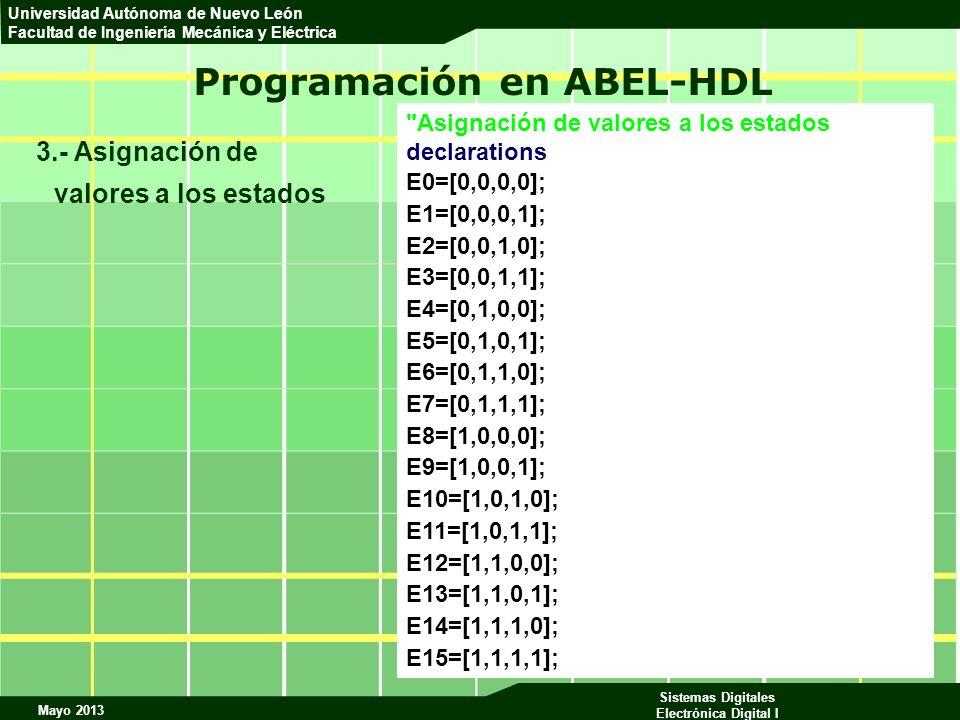 Programación en ABEL-HDL