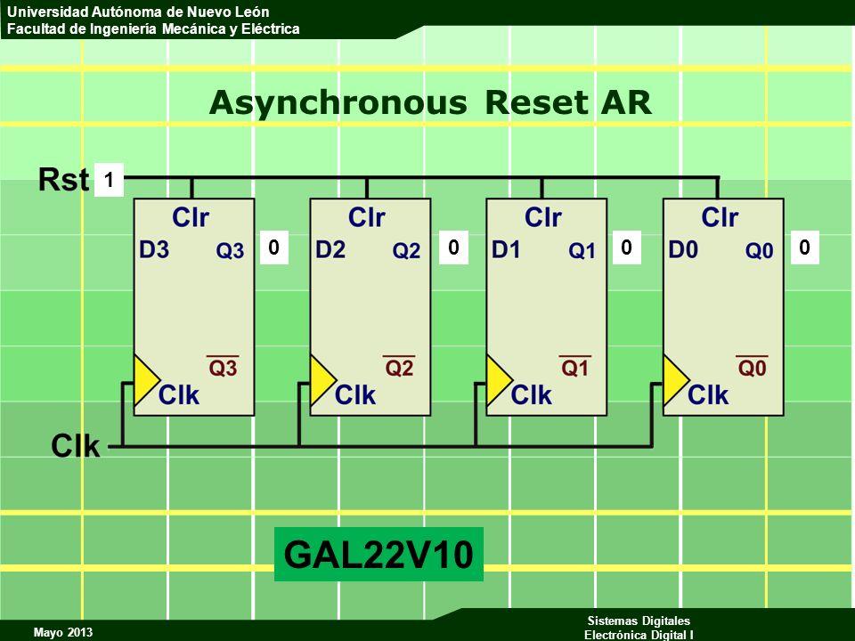 Asynchronous Reset AR 1 GAL22V10