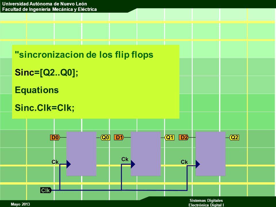 sincronizacion de los flip flops