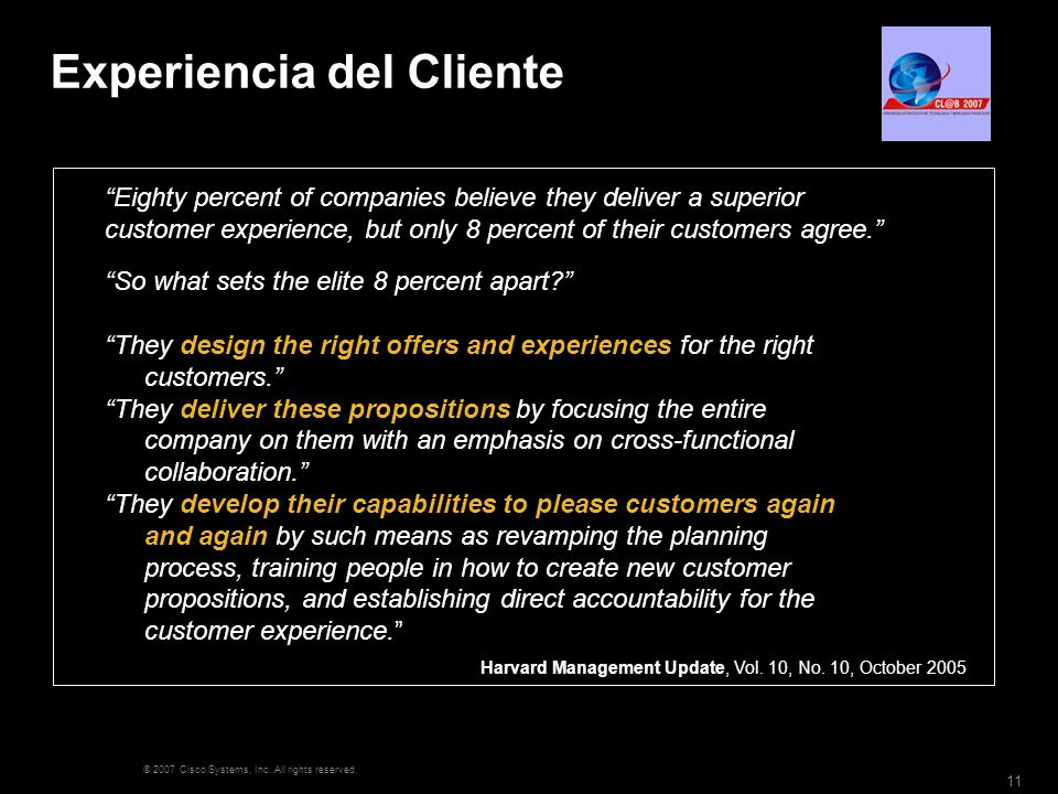 Experiencia del Cliente