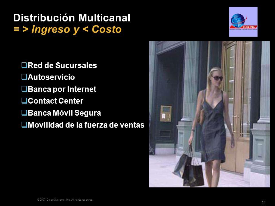 Distribución Multicanal = > Ingreso y < Costo