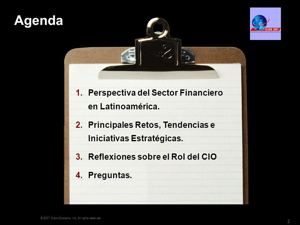 Agenda Perspectiva del Sector Financiero en Latinoamérica.