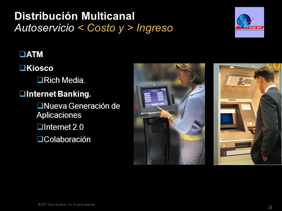 Distribución Multicanal Autoservicio < Costo y > Ingreso