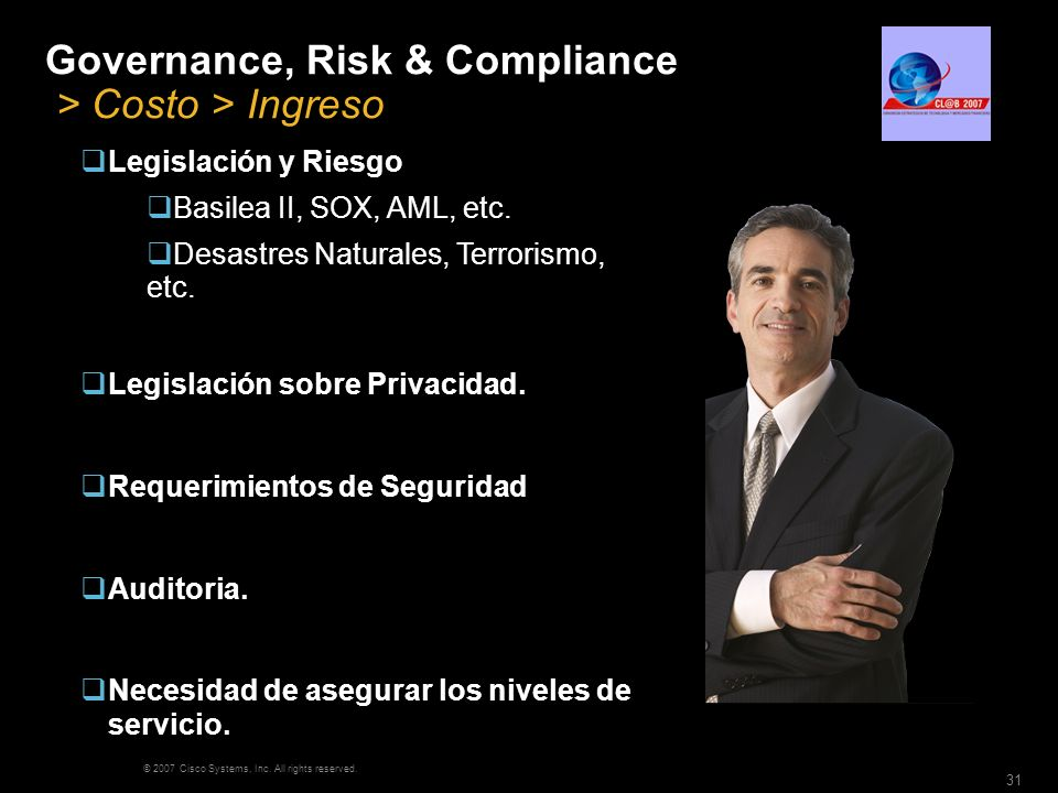 Governance, Risk & Compliance > Costo > Ingreso