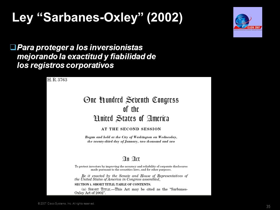 Ley Sarbanes-Oxley (2002)
