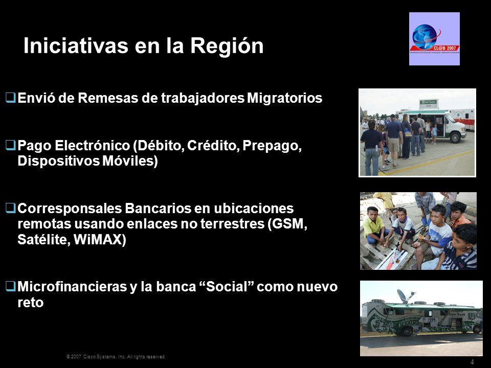 Iniciativas en la Región