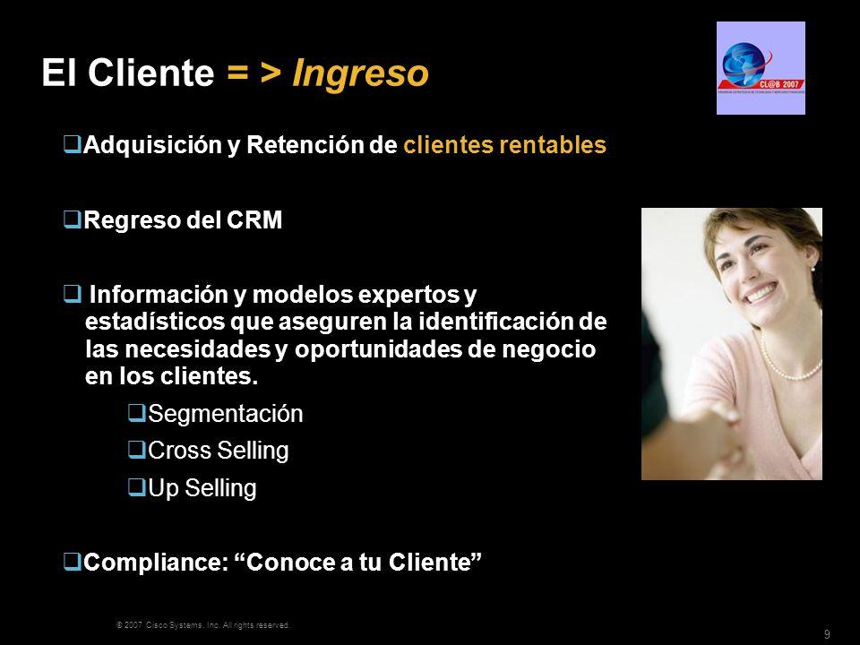 El Cliente = > Ingreso