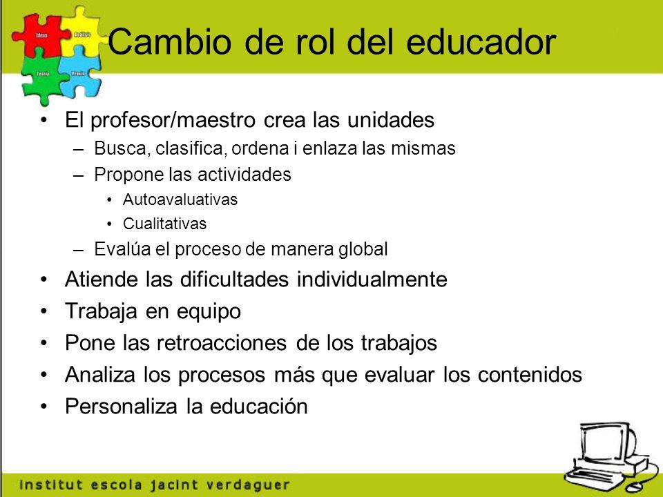 Cambio de rol del educador