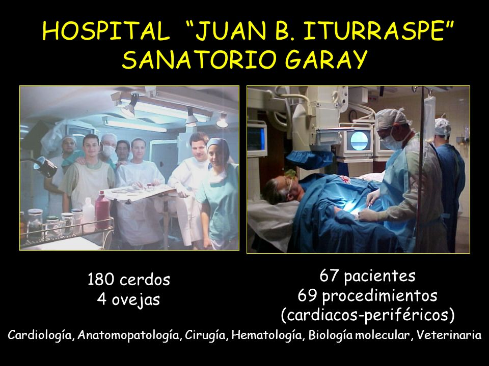 HOSPITAL JUAN B. ITURRASPE SANATORIO GARAY