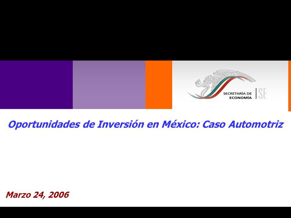 Oportunidades de Inversión en México: Caso Automotriz