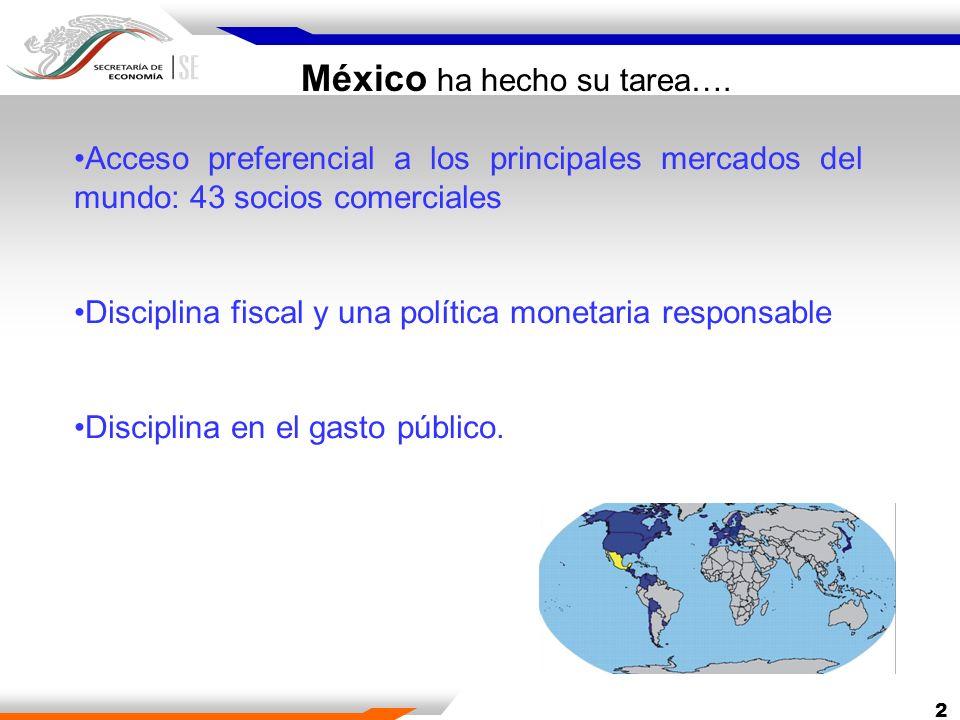 México ha hecho su tarea….
