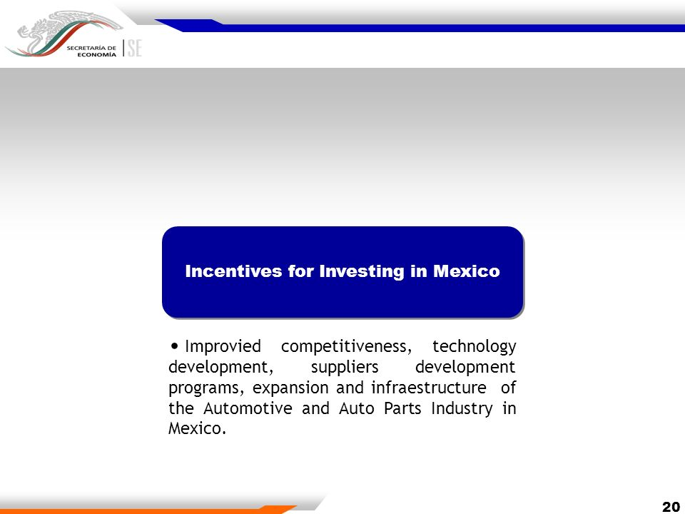 Incentives for Investing in Mexico