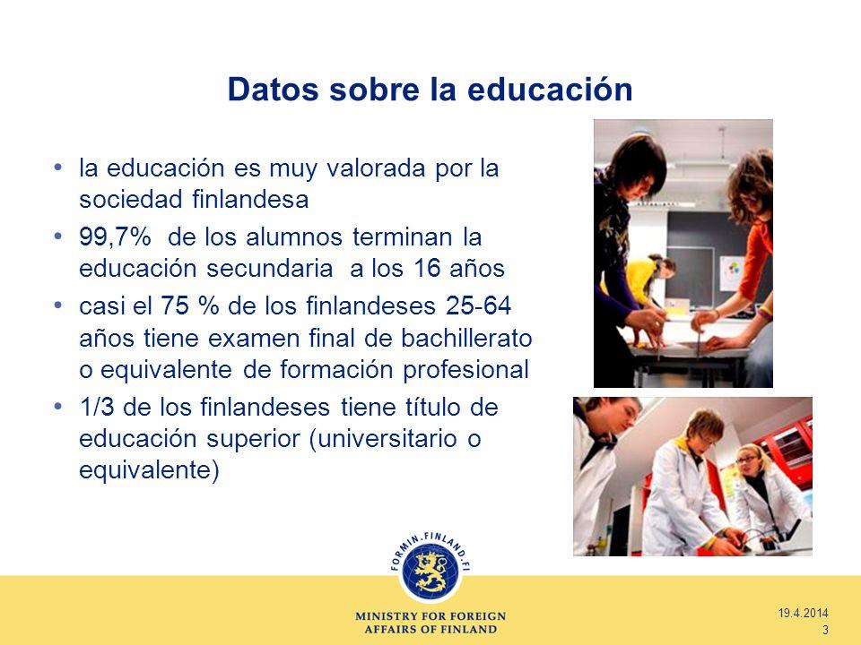 Datos sobre la educación