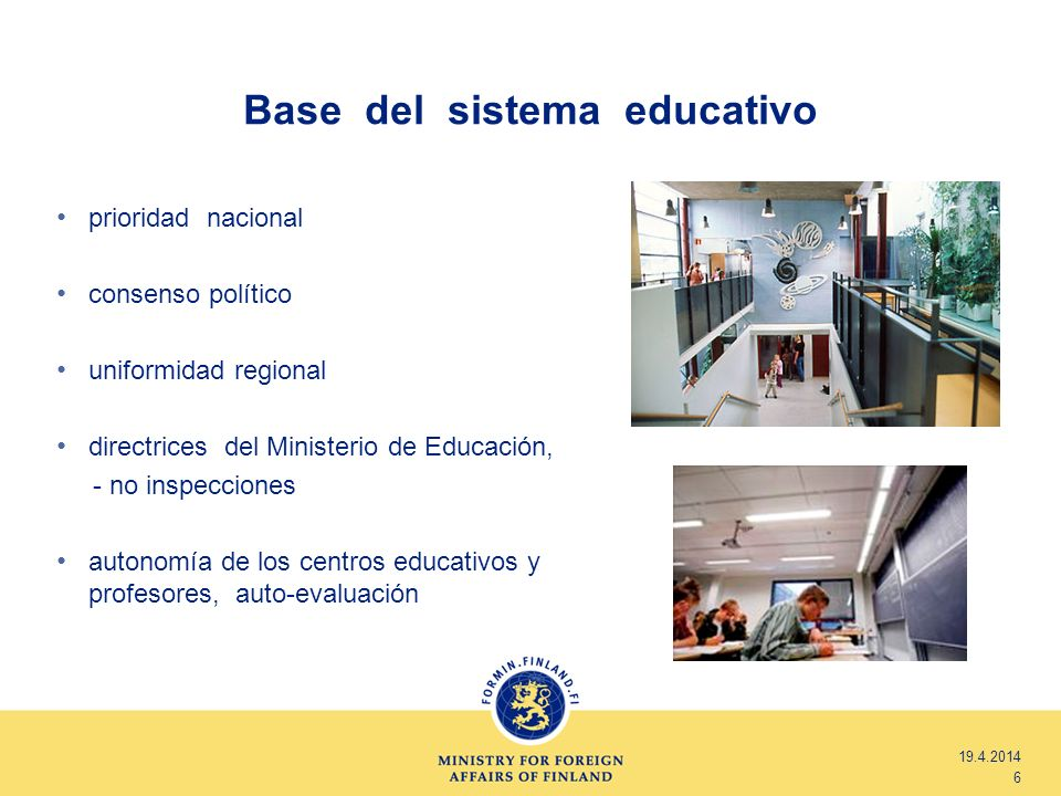 Base del sistema educativo