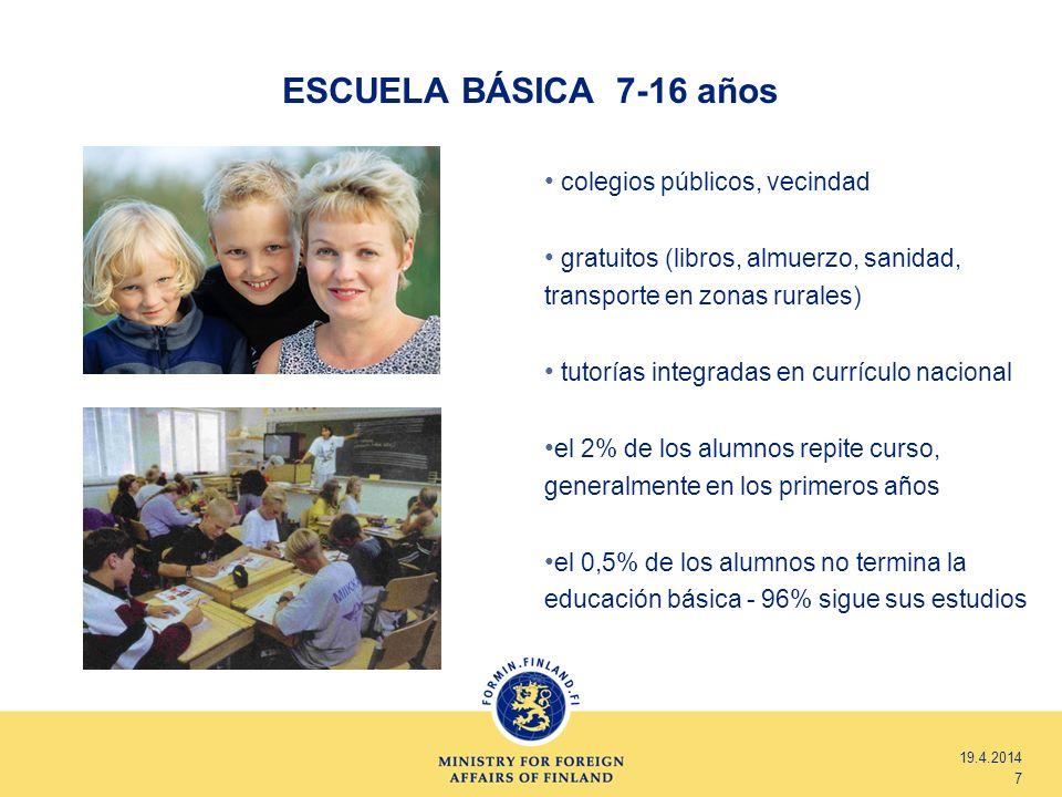 ESCUELA BÁSICA 7-16 años colegios públicos, vecindad