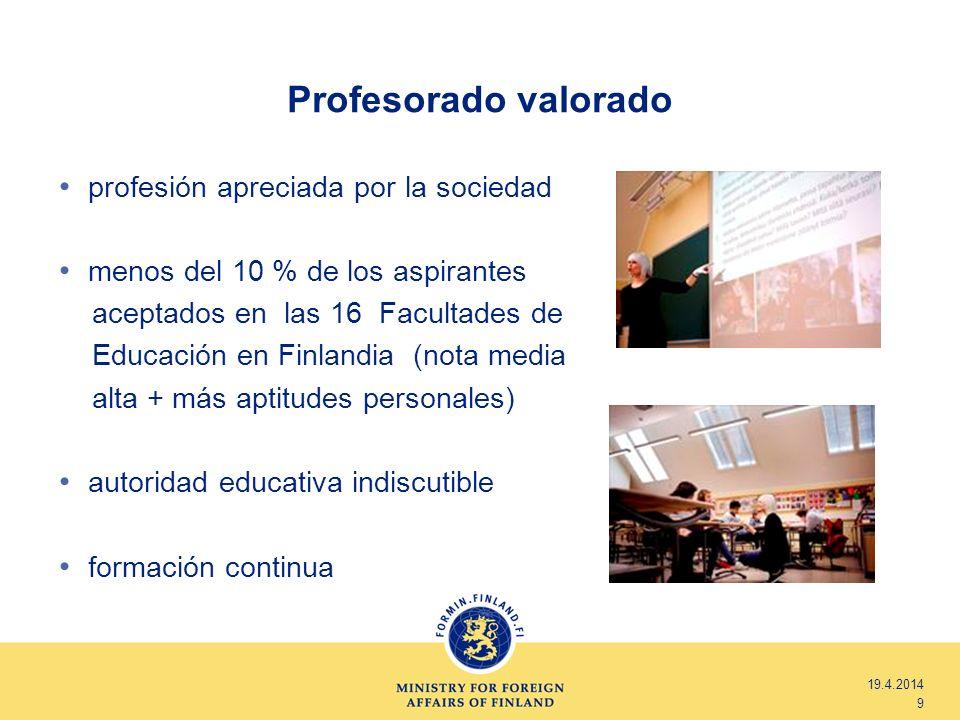 Profesorado valorado profesión apreciada por la sociedad