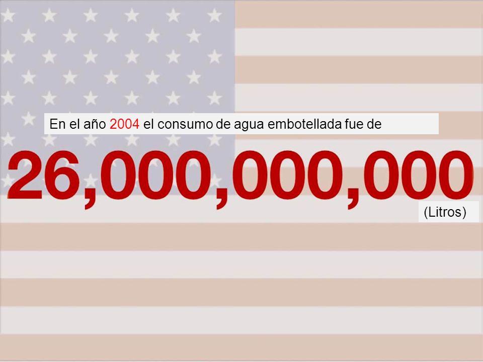 En el año 2004 el consumo de agua embotellada fue de