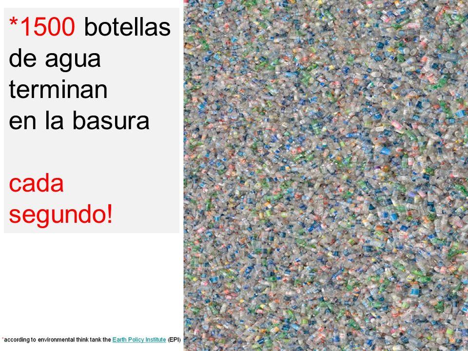 *1500 botellas de agua terminan