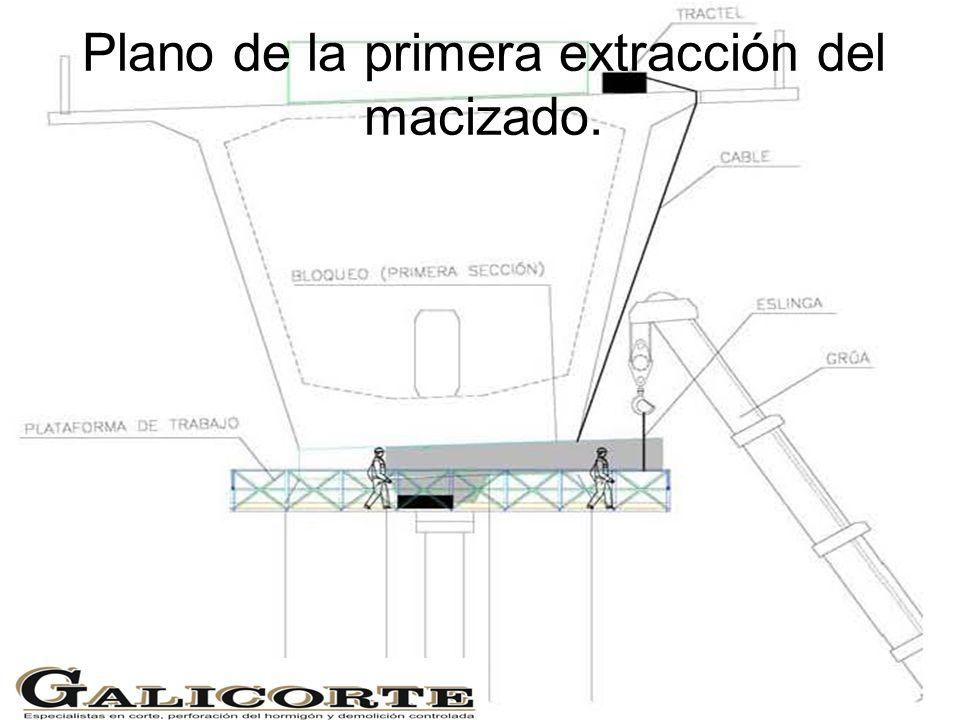 Plano de la primera extracción del macizado.