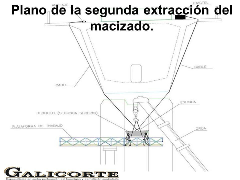 Plano de la segunda extracción del macizado.