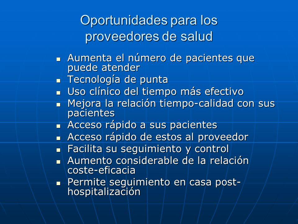 Oportunidades para los proveedores de salud