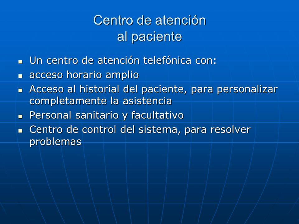 Centro de atención al paciente