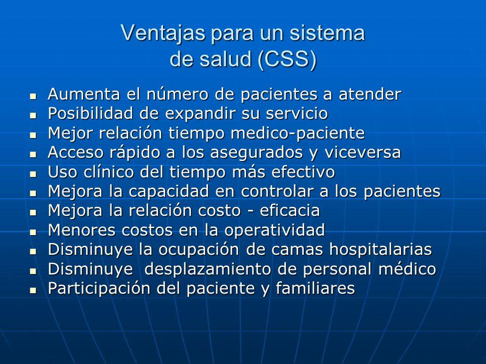 Ventajas para un sistema de salud (CSS)
