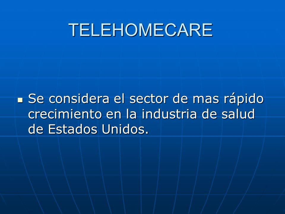 TELEHOMECARE Se considera el sector de mas rápido crecimiento en la industria de salud de Estados Unidos.