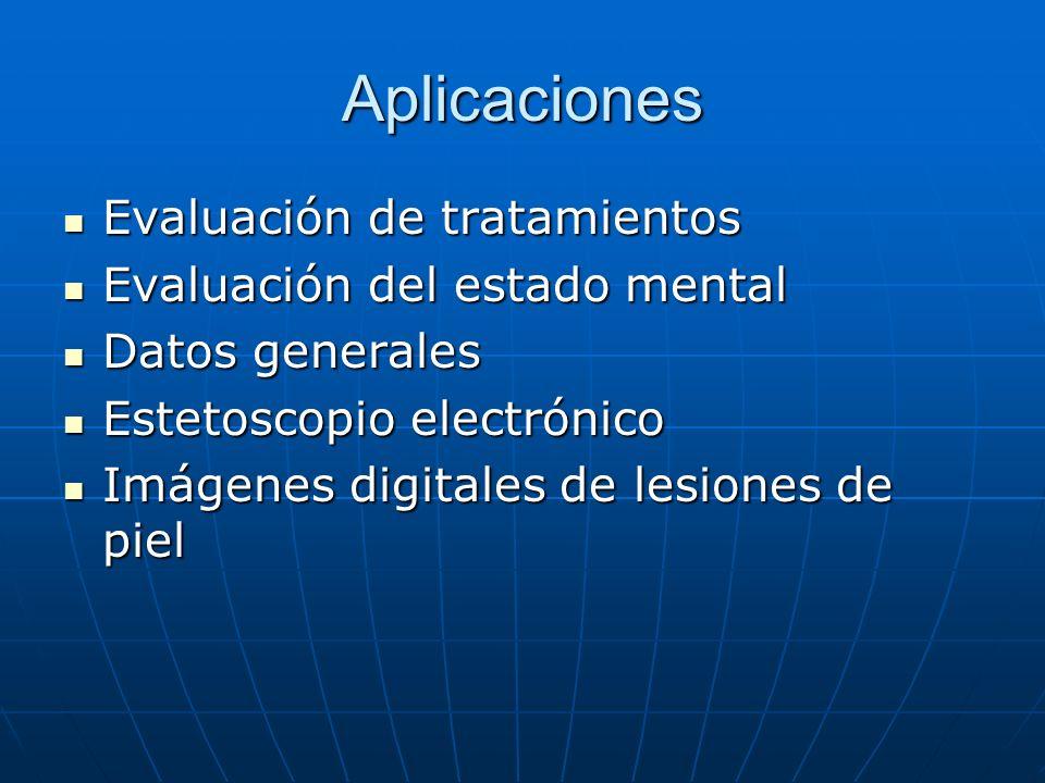 Aplicaciones Evaluación de tratamientos Evaluación del estado mental