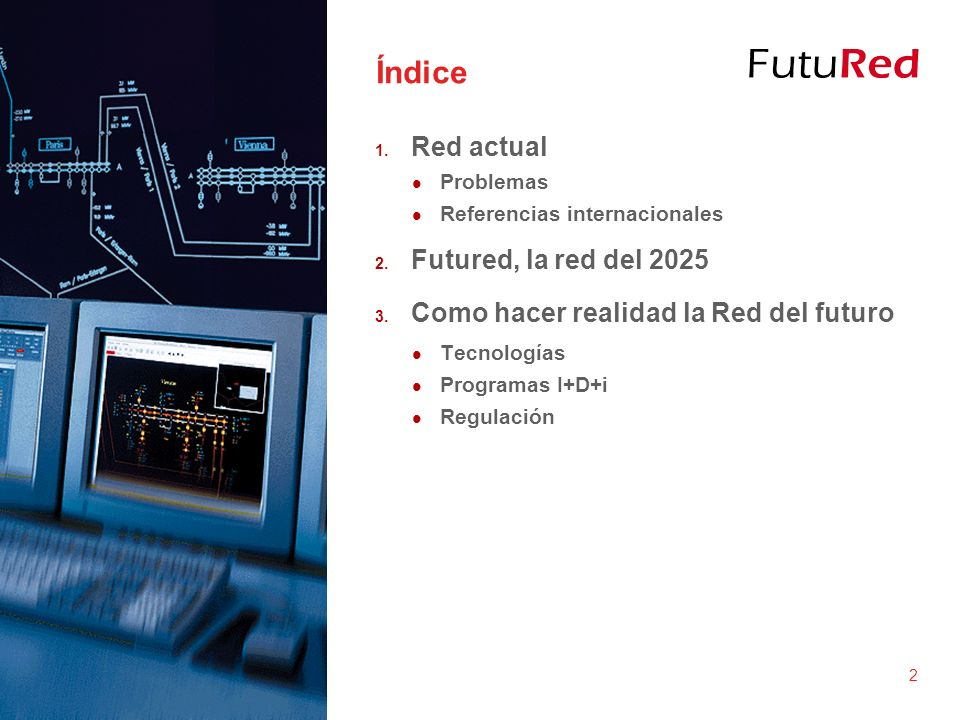 Índice Red actual Futured, la red del 2025