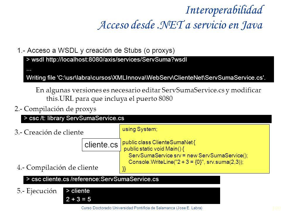 Interoperabilidad Acceso desde .NET a servicio en Java