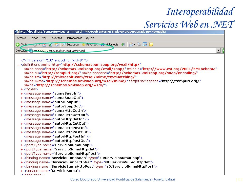 Interoperabilidad Servicios Web en .NET