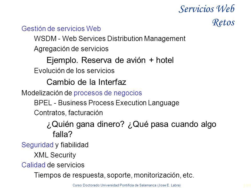 Servicios Web Retos Ejemplo. Reserva de avión + hotel