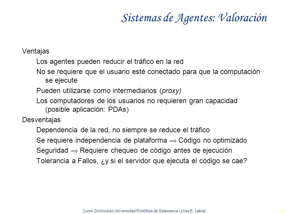 Sistemas de Agentes: Valoración