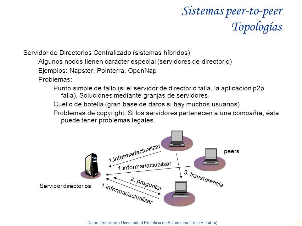 Sistemas peer-to-peer Topologías