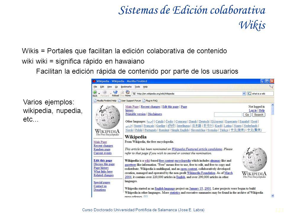 Sistemas de Edición colaborativa Wikis