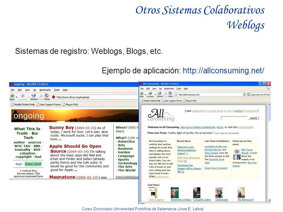 Otros Sistemas Colaborativos Weblogs