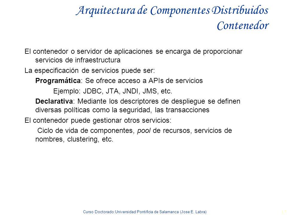 Arquitectura de Componentes Distribuidos Contenedor